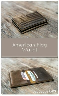 9d8025f7b95 American Flag Wallet  Handmade   Distressed Leather   Free Shipping