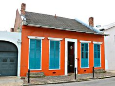 Creole Cottages in New Orleans French Quarter