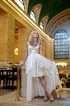 Ophelia Blaimer - Couture - Dirndl - New York Happy Hour - White White Lady