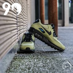 Nike is giving one of their most beloved models an animalistic make-over. This Air Max 90 uses a green color on the shoe to make it look like an alligator. Black and blue details finish this shoe off strong.  Now online available | Priced at 144.95 | Mens sizes 40 - 44 |
