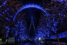 The London eye at Westminster, London.