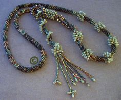 Rizo Crochet Cable Lariat, Sage, A Better Bead & Crafts