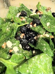 Baby Spinach and Blueberry Salad