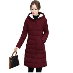 2018 Winter Jacket women Plus Size Womens Parkas Thicken Outerwear Warm Hooded Winter Coat Female Slim Cotton padded basic tops Winter Jackets Women, Coats For Women, Clothes For Women, Hooded Winter Coat, Plus Size Outerwear, Womens Parka, Basic Tops, Printed Sweatshirts, Types Of Sleeves