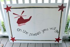 Baby Boy Nursery Painting - Love the combination of aviation and Dr. Seuss! :):)