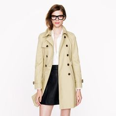 Plane Ride/London Outfit(s)- J Crew Trench