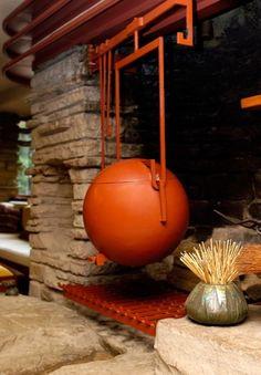 AD Classics: Fallingwater House / Frank Lloyd Wright fireplace