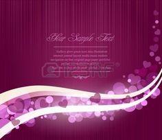 herz pink: Romantische abstrakten Vektor lila Hintergrund mit Wellen und Herzen Illustration