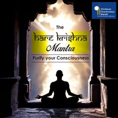 Purify your consciousness by chanting the holy names of #God; The #HareKrishna Maha-Mantra.