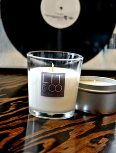 Verbena Currant Soy Candle in Glass Tumbler by LitandCo on Etsy, $16.50