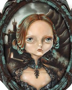 Closeup of my painting 'Nocturne' for 'All Hallows' Eve' show, opening October 29th at @penumbragallery ...! #allhallowseve #halloween #penumbragallery #lowbrowart #popsurrealism #nawden #arts_help #darkart #vintage #ooak #halloween2016 #nocturne #beautifulbizarre #arts_mag #arts_realistique #creative_instaarts #illustration #imaginationart #worldofartists #blue