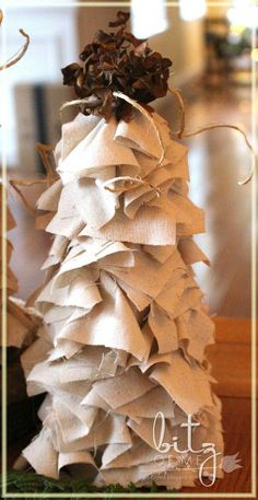 Hometalk :: DIY Muslin Winter Trees