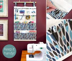 Hanging, 14-Pocket Wall Caddy for Sewing & More | Sew4Home