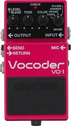 MATRIXSYNTH: BOSS Introduces Vocoder VO-1 Guitar Pedal