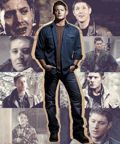 (GIF) Supernatural - Dean Winchester Collage (portrayed by Jensen Ackles). #Supernatural #SPN #TV_Show