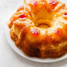 Pineapple Rum Cake getting soaked in pineapple butter rum sauce Köstliche Desserts, Delicious Desserts, Dessert Recipes, Southern Desserts, Southern Dishes, Holiday Desserts, Southern Recipes, Rum Cake From Scratch, Cake Recipes From Scratch