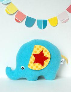 Elephant Plush Softie Baby Toy Stuffed by FriendsOfSocktopus, $24.00