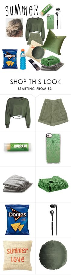 """""""A Good Lazy Summer"""" by tealbloodedballerina ❤ liked on Polyvore featuring interior, interiors, interior design, home, home decor, interior decorating, WithChic, Chloé, Casetify and Crate and Barrel"""
