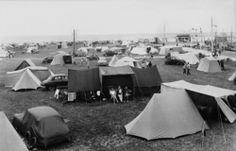 Grandcamp (Calvados). Le camping. Années 1950.