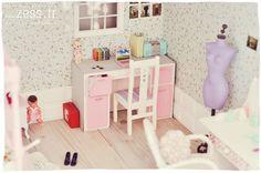 Maison de poupées : la chambre