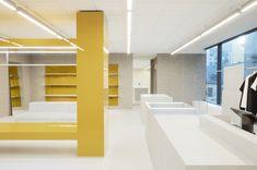 Long Bench, Design Language, Brand Store, Shop Interiors, Retail Shop, Display Shelves, Retail Design, Oslo