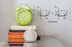 Wall Sticker Vinyl Decal Chemical Formula Cellulose Decor of Pupils Unique Gift Wall Sticker, Wall Decals, Vinyl Decals, Chemical Formula, Alarm Clock, Unique Gifts, Indoor, Stickers, Home Decor