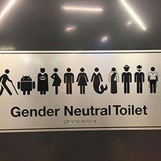 Google Gender Neutral Bathroom Sign: Batman Jedi Pirate & Aliens Allowed