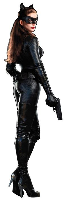 "A newly-released hi-res promotional image of ""Dark Knight Rises"" star Anne Hathaway in her Catwoman costume has made its way online today, offering fans the clearest look to date of the popular Batman villain/love interest. Catwoman Cosplay, Cosplay Gatúbela, Catwoman Mask, Catwoman Outfit, Dark Knight Rises Catwoman, The Dark Knight Rises, Anime Sexy, Anne Hathaway Mulher Gato, Anne Jacqueline Hathaway"