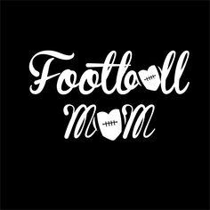 Football, Football Mom, Car Decal, Vinyl Decal, Love Football, Football Heart, Custom Decal by Heartnsol1 on Etsy