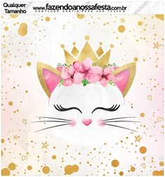 Veja o que temos para Molde Quadrado Gatinho Kitten Party, Cat Party, Cat Decor, Girl Decor, Cat Birthday, 2nd Birthday Parties, Bachelorette Party Decorations, Sleepover Party, Baby Shower