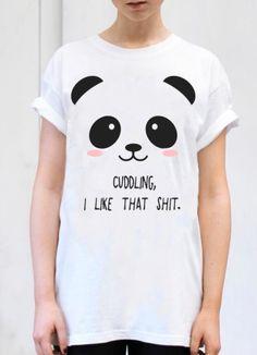 PANDA T-SHIRT  ♀♂ Panda Shirt, Panda Party, Panda Love, Sewing For Kids, Fabric Painting, Funny Tshirts, Kids Outfits, T Shirts For Women, Tees