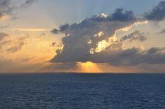 Sunset from Norwegian cruise line