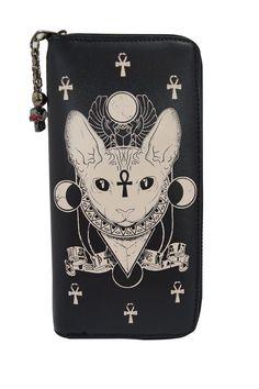 Gothic Bastet Sphynx Cat Occult Goth Wallet  #sphynxcat