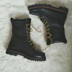 Ralph Lauren Polo Boots (Mens) These leather babies are such beauties and the best part about them is that they have only been worn twice. Polo by Ralph Lauren Shoes Combat & Moto Boots