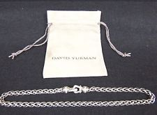 David Yurman Cable Buckle Wheat Chain Necklace with Diamonds