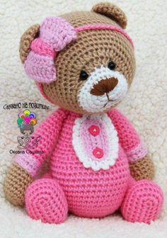 Вязаные игрушки, мои авторские и не только ♥ Tolle und findet Ihr bei ich freu mich auf Euch. Crochet Teddy, Crochet Bear, Crochet Patterns Amigurumi, Cute Crochet, Crochet For Kids, Amigurumi Doll, Crochet Crafts, Crochet Dolls, Crochet Projects