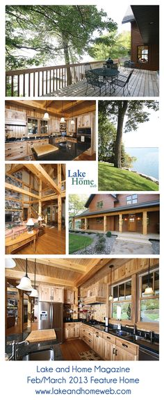 We had the pleasure of cutting the timbers for this Feb/March 2013 feature home from MN Lake and Home Magazine