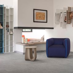 """The essentials to create a perfect relaxing reading corner. #mdfitalia #SagStool #Nendo…"""