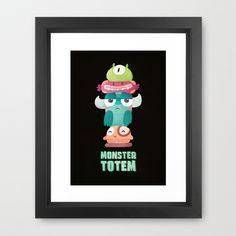 Monster Totem Framed Art Print