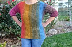 Vertical stripes are slimming, so grab your hook ladies and gentlemen because this vertical stripes sweater crochet pattern is STRAIGHT UP EASY!