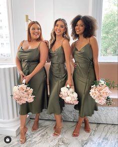 Cute Bridesmaid Dresses, Be My Bridesmaid, Wedding Bridesmaids, Wedding Colors, Wedding Styles, Sage Green Wedding, Dream Wedding Dresses, Wedding Bells, Summer Wedding