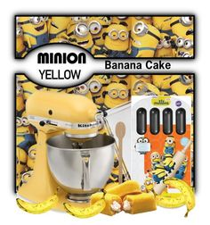 """Minion yellow Banana cake"" by pink1princess ❤ liked on Polyvore"