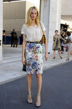 Florals skirt #style