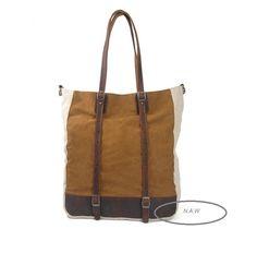 Canvastaschen - 5. Segeltuch Leder Beuteltasche Umhängetasche - ein Designerstück von Colourful-World bei DaWanda Tote Bag, Bags, Fashion, Taschen, Leather, Handbags, Moda, Fashion Styles, Carry Bag