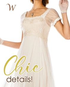 Inspired by effortlessness of the Edwardian Era, the Parisienne Vintage Elegance Wedding Gown in Ivory is a breath of fresh air. The ethereal embroidered fabric features timeless touches like luxurious lace accents and feminine cap sleeves. Sheer details and an empire waistline make this ideal for any sophisticate with an old fashioned sense of style...