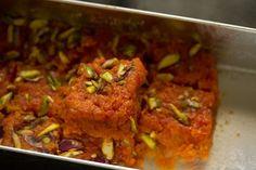 making gajar barfi recipe... India carrot sweet cake thing... Like had at Kara's Iftar night...