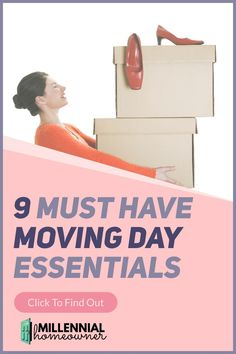 Wonder what moving day essentials you need? Get these 9 Must Have Moving Day Items and Moving Day Tips. They are the essential parts to having a great moving day experience into your first home.