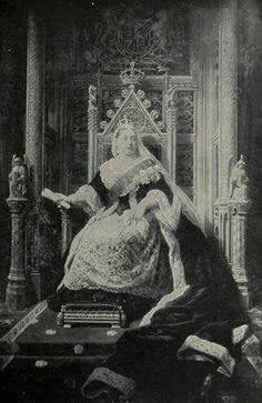A majestic portrait of Queen Victoria in her diamond Jubilee. 1897