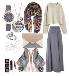 """#Hijab_outfits"" by mennah-ibrahim on Polyvore featuring Phase Eight, New Balance, Pieces, Armitron, Disney, Allurez and Bobbi Brown Cosmetics"