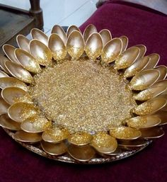 I made this decorated tray for using in engagement ceremony. We can use it on festive seasons as well.